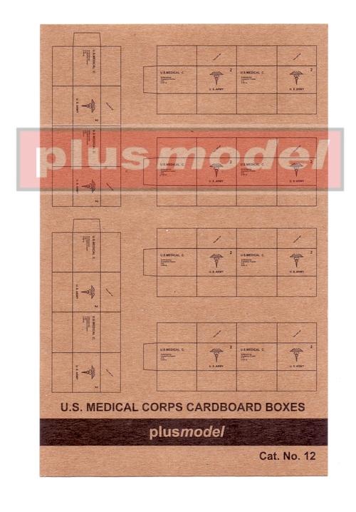 U.S.Medical Corps Cardboard Boxes