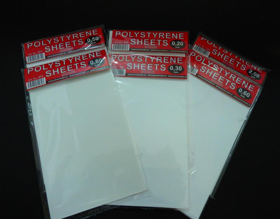 Plastikové destičky 0,2 mm