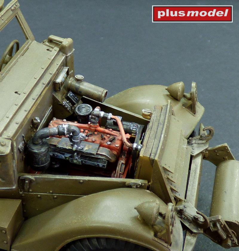 M3 Scout Car - motorový set