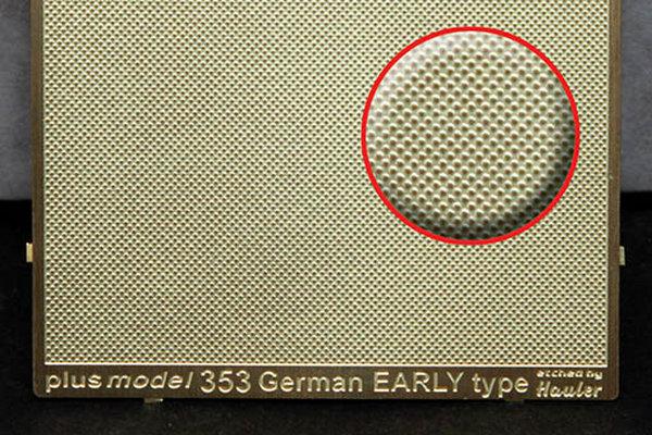 Plech s reliefem - german grill