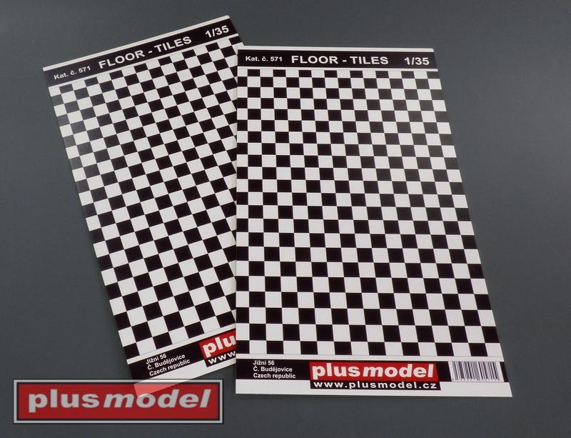 Podlaha - dlaždice, černá a bílá