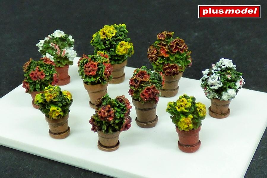 Květiny v květináčích -1