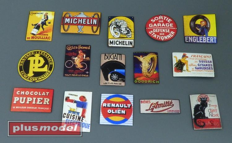 Plechové reklamní cedule Francie 30 a 40leta-1