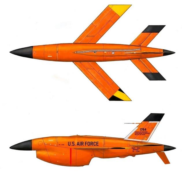 BQM-34 Firebee s transportním vozíkem-2