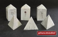 Anti-tank Concrete Barriers-Pyramid-style,Set II.