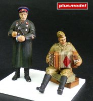 Red Army Soldier,WWII.-Accordionist and NKVD Officer