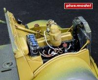 Detailní set motorového prostoru Opel Blitz - Tamiya