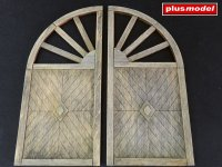 Dřevěná vrata - kulatá