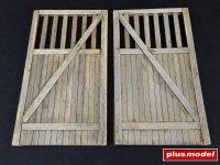 Dřevěná vrata - rovná
