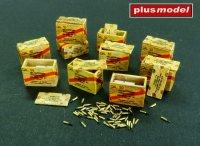US muniční bedny na náboje v krabičkách